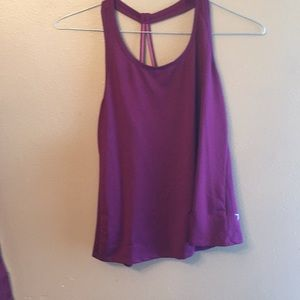 Old navy plum XS active tank go dry loose